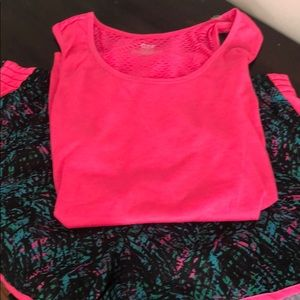 NWT work out shorts & top